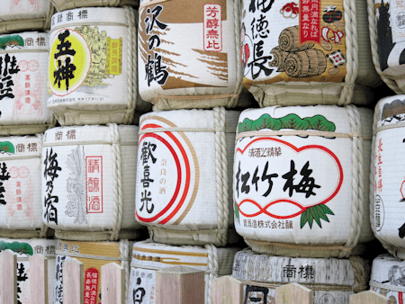 Sake Barrel in Nara, Japan